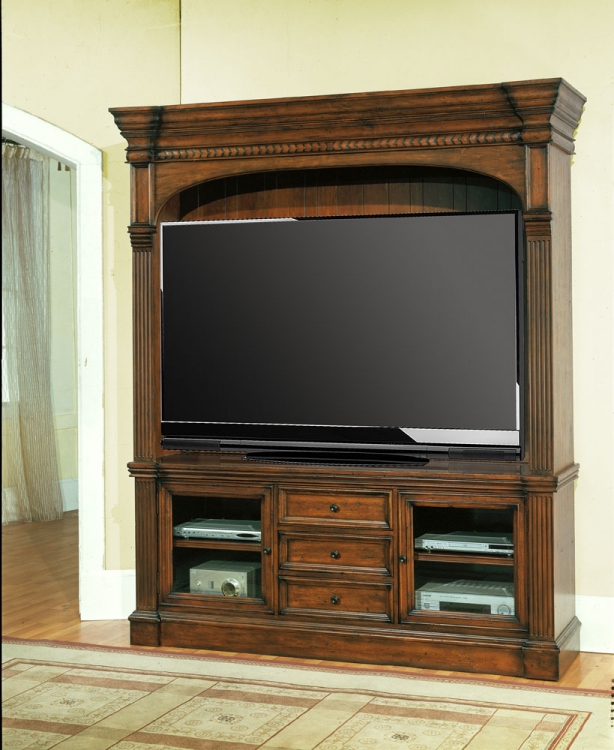 Genoa 3pc Entertainment Center with 77in TV Console - Parker House