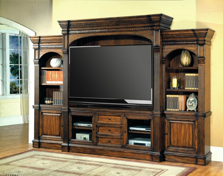 Genoa 5pc Wall System with 77in TV Console
