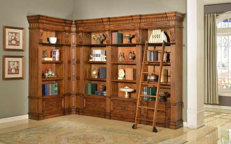 Grand Manor Granada Museum Bookcase Library Wall 1