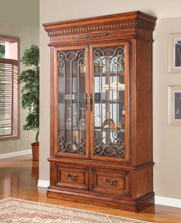 Grand Manor Granada 2 Pc Display Wall Curio - Parker House