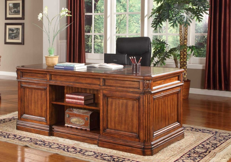 Grand Manor Granada Double Pedestal Executive Desk - Parker House