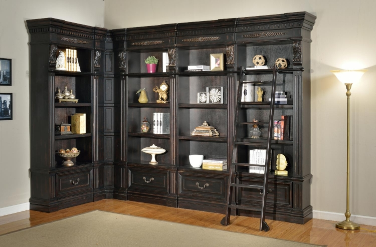 Grand Manor Palazzo Museum Bookcase Library Wall 1
