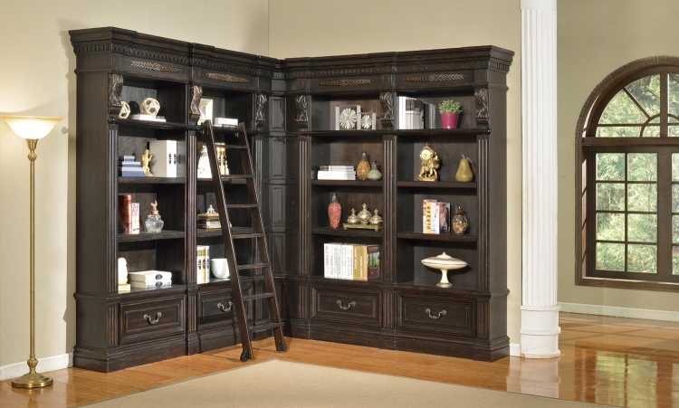 Grand Manor Palazzo Museum Bookcase Library Wall 2