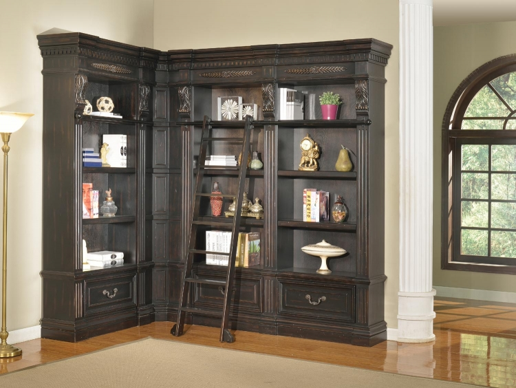 Grand Manor Palazzo Museum Bookcase Library Wall 3