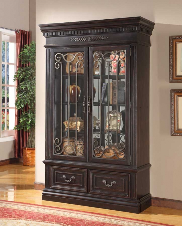 Grand Manor Palazzo 2 Pc Display Wall Curio - Parker House