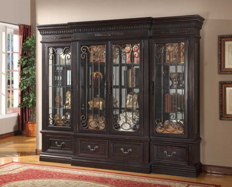 Grand Manor Palazzo 4 Pc Display Wall Curio - Parker House