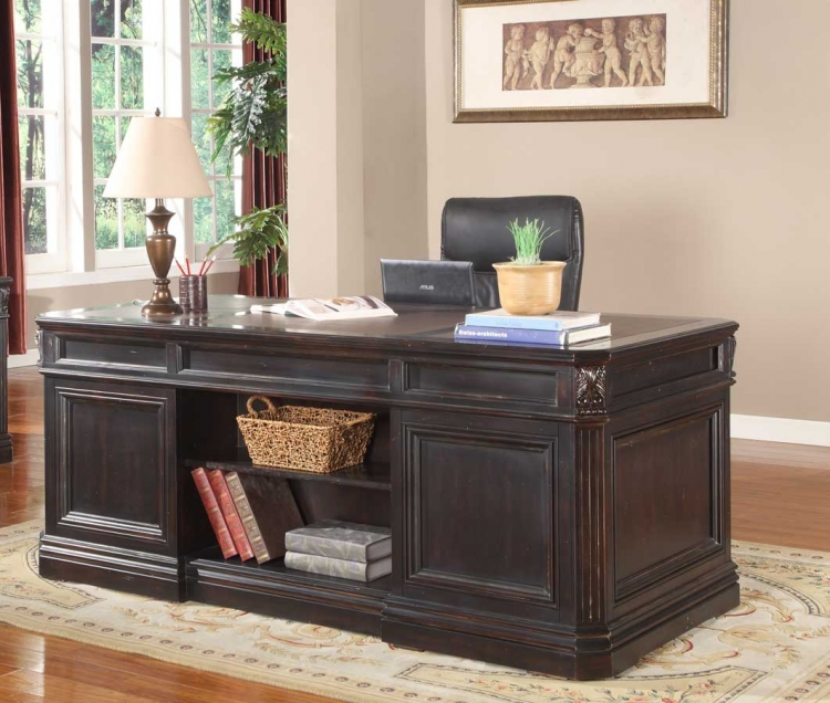 Grand Manor Palazzo Double Pedestal Executive Desk - Parker House