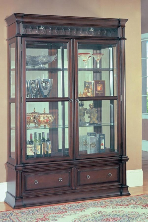 Grand Manor Park Place Curio Cabinet - Parker House