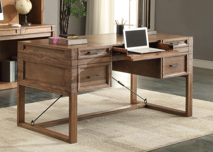 Hickory Creek 60-inch Writing Desk with Power Center