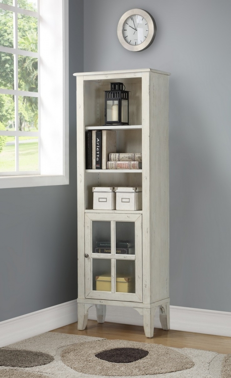 Hilton Bookcase withDoor - Antique Vintage Storm
