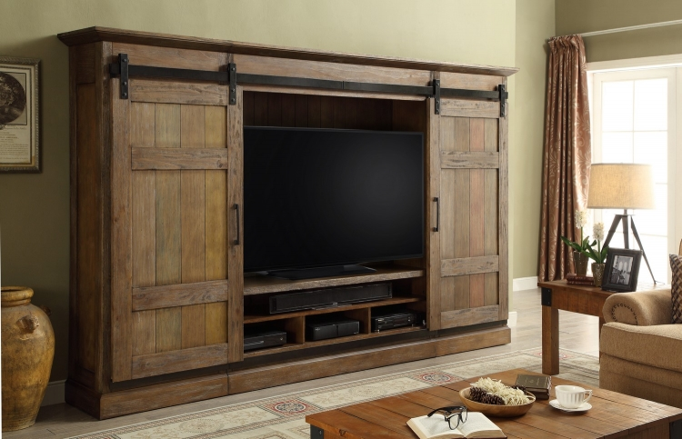 Hunts Point 4pc Sliding Door Entertainment Wall