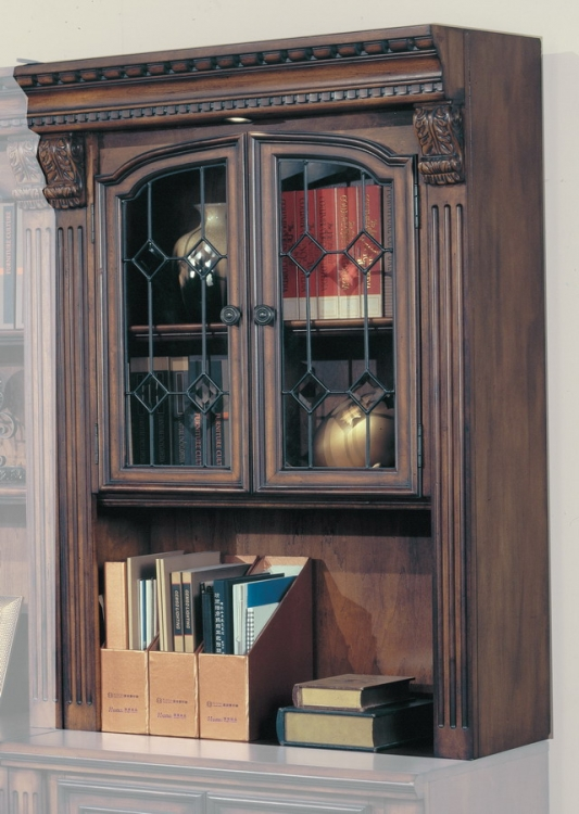 Huntington 32in Glass Bookcase Top