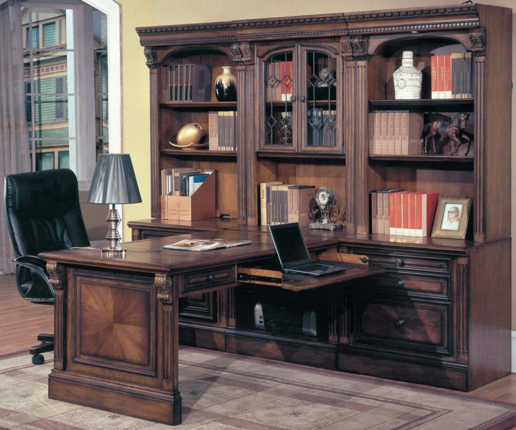 Huntington Home Office Suite 7pc Peninsula Group - Parker House