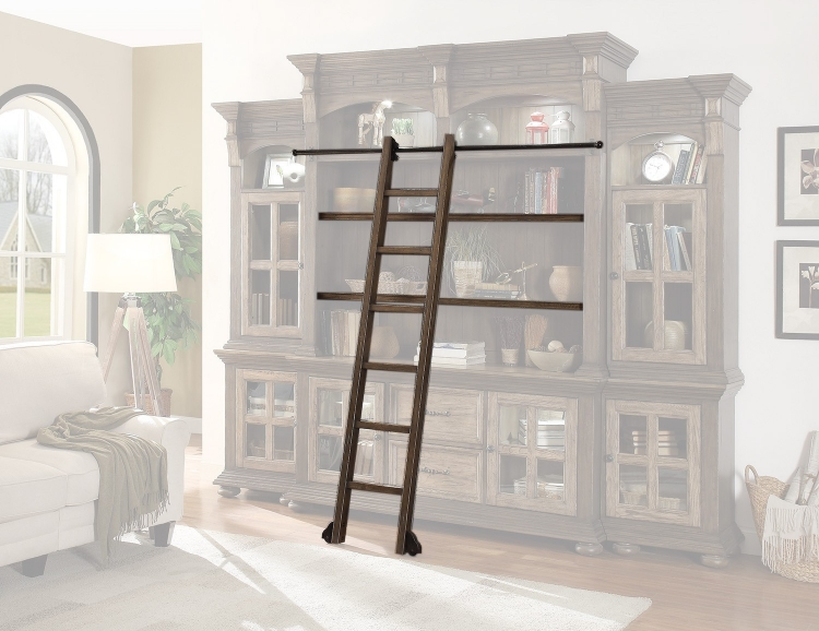 Parker House Laredo Shelves, Ladder and Ladder Rail - Vintage Hickory