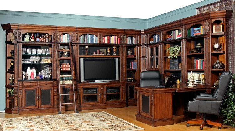 Leonardo Library Wall Unit Bookcase Set 1