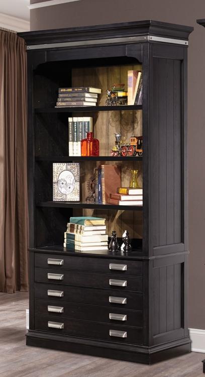 Lincoln Park 40-inch Open Bookcase - Vintage Ash