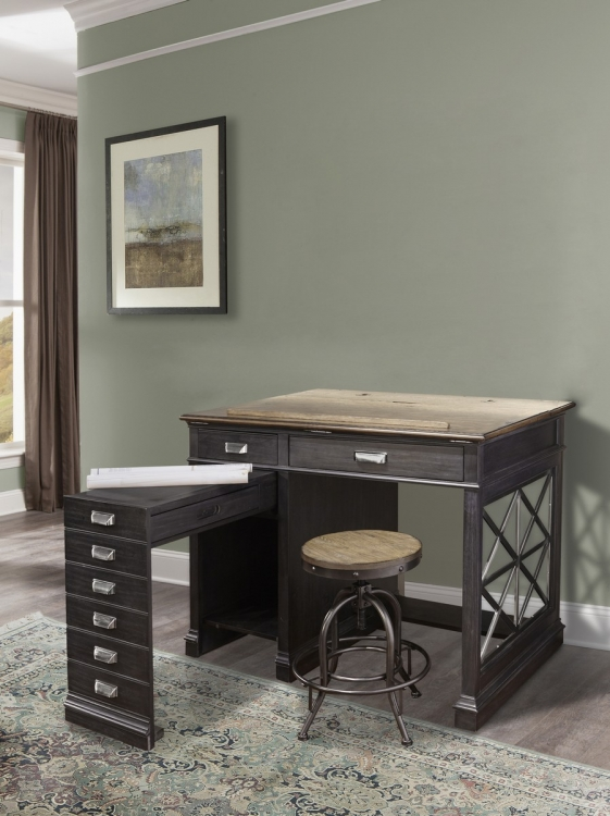 Lincoln Park Architects Desk - Vintage Ash