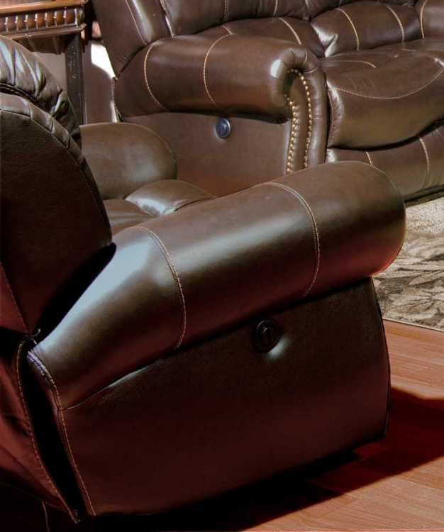 Adonis Power Recliner Chair - Chocolate - Parker Living