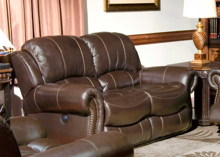 Adonis Power Love Seat with Dual Recliner - Chocolate - Parker Living