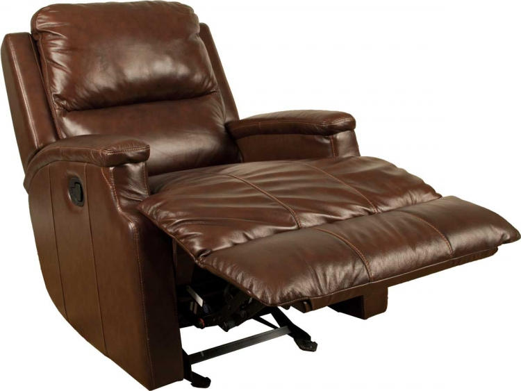 Atlas Motion Glider Recliner Chair - Chocolate - Parker Living