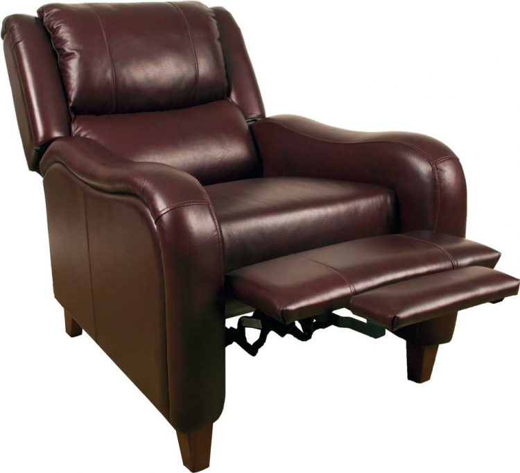 Cupid Motion Glider Recliner Chair - Merlot - Parker Living
