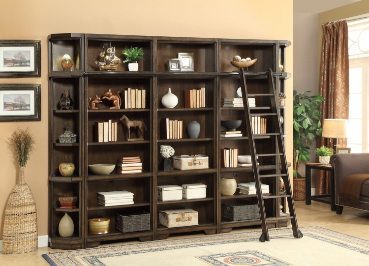 Meridien Library Bookcase Wall Unit - A