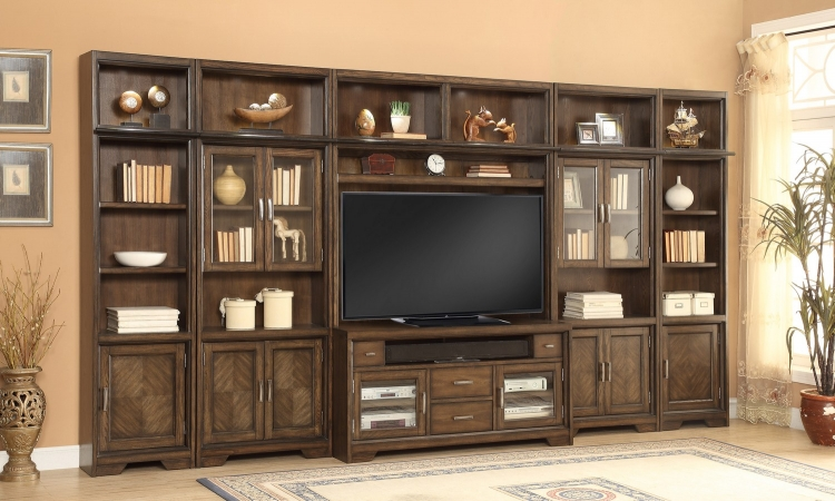 Meridien Library Bookcase Entertainment Wall Unit - A