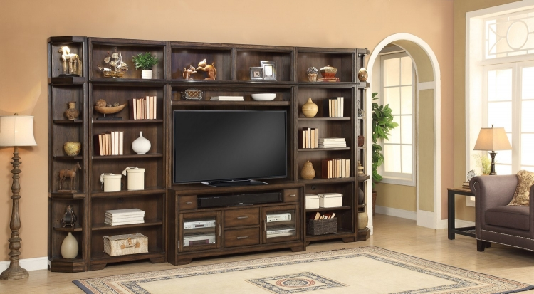 Meridien Library Bookcase Entertainment Wall Unit - B