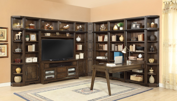Meridien Home Office Library Bookcase Wall Unit - D