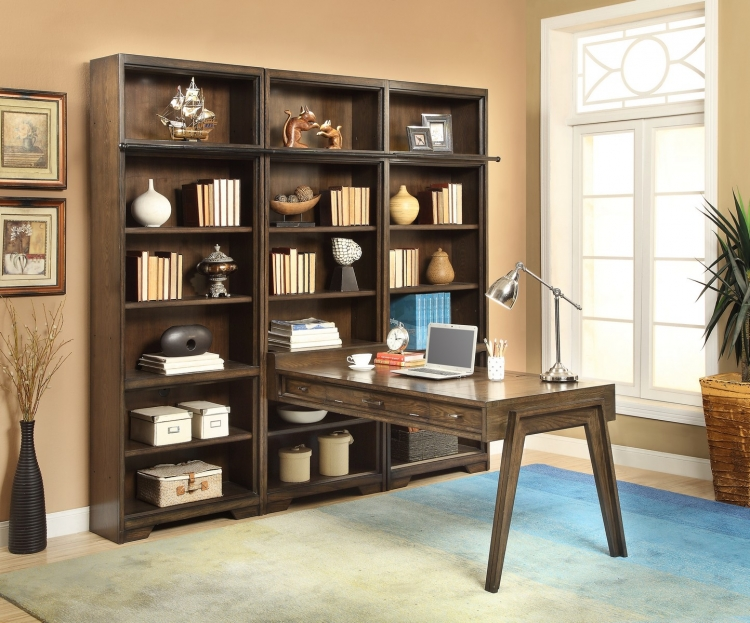 Meridien Home Office Peninsula Bookcase Wall Unit - B