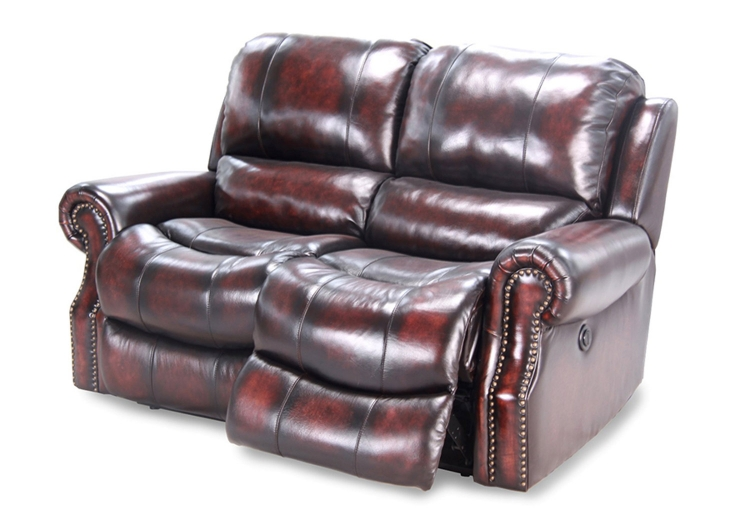 Midas Dual Reclining Power Loveseat - Burnt Umber - Parker Living