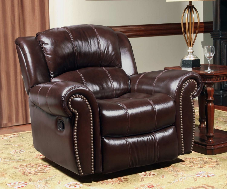 Poseidon Power Recliner Chair - Cocoa - Parker Living