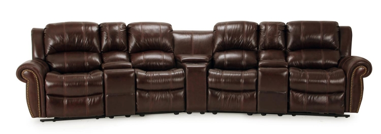 Poseidon Home Theater Seating Set - Cocoa - Parker Living