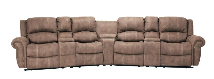 Poseidon Home Theater Seating Set - Kahlua - Parker Living
