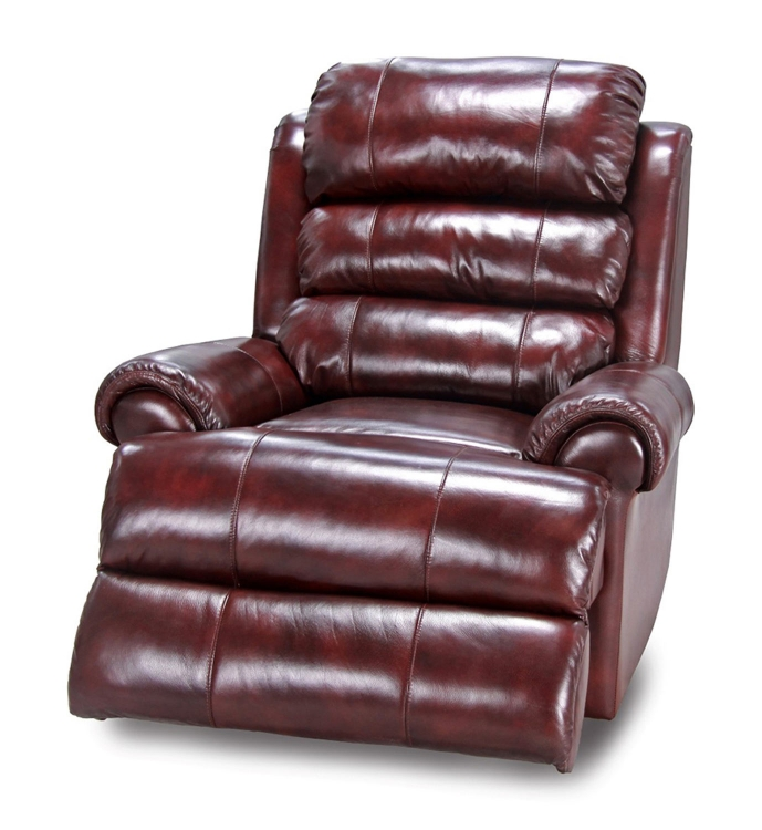 Saturn Power Recliner Chair - Merlot - Parker Living