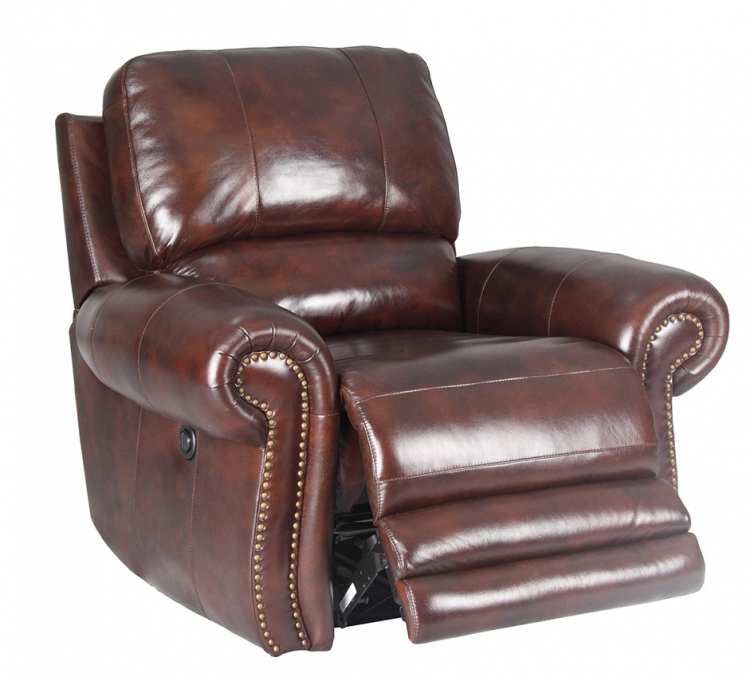 Thor Power Reclining Chair - Tobacco - Parker Living