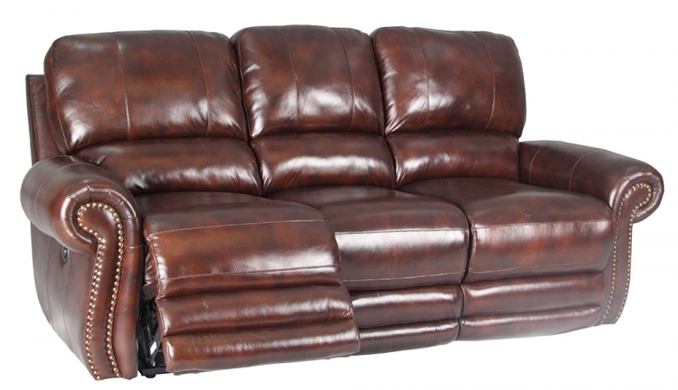 Thor Dual Reclining Power Sofa - Tobacco - Parker Living