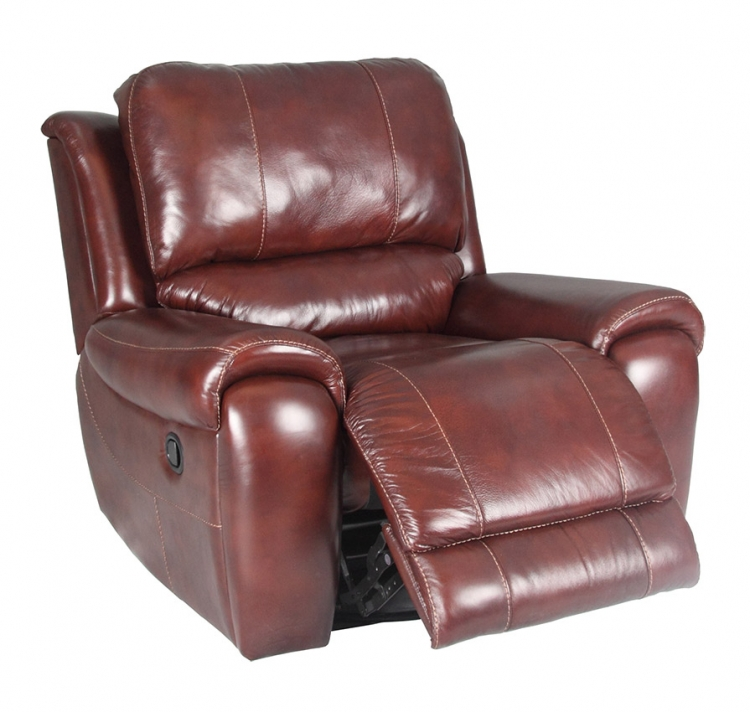 Titan Swivel Reclining Chair - Dark Burgundy - Parker Living