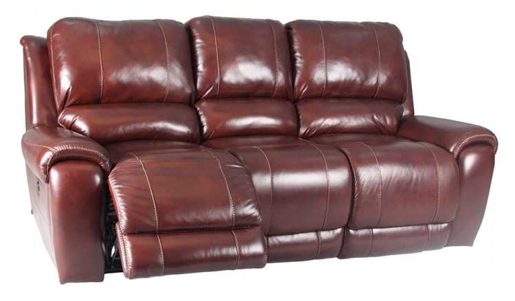 Titan Dual Reclining Power Sofa - Dark Burgundy - Parker Living