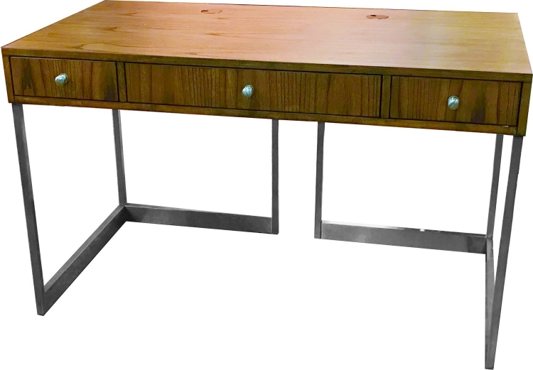 Madison 50-inch Writing Desk with Metal Base