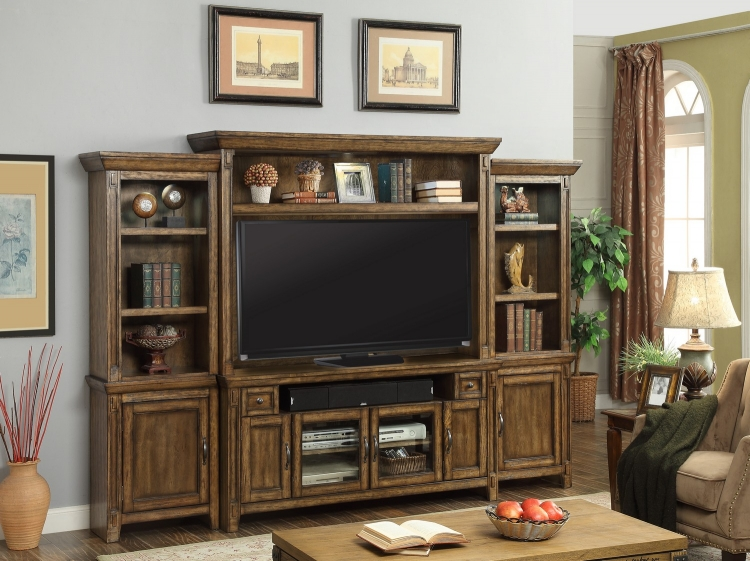 Riverbend 4 Pc 62in Entertainment TV Wall Unit