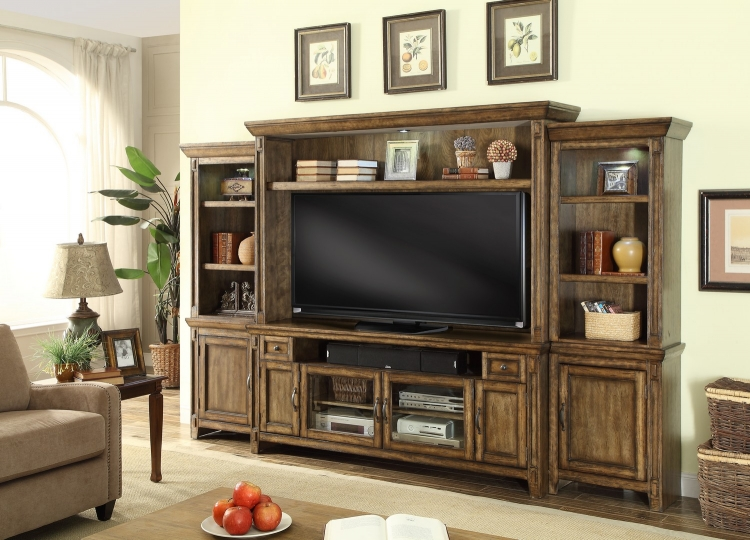 Riverbend 4 Pc 72in Entertainment TV Wall Unit
