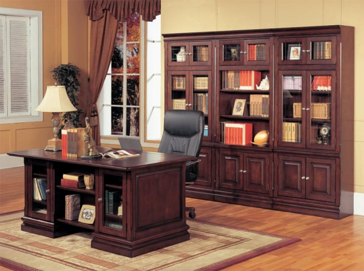 Sterling Library Bookcase and Desk Set - Parker House