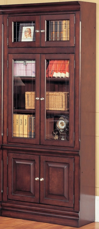 Sterling 32in Glass Door Bookcase - Parker House