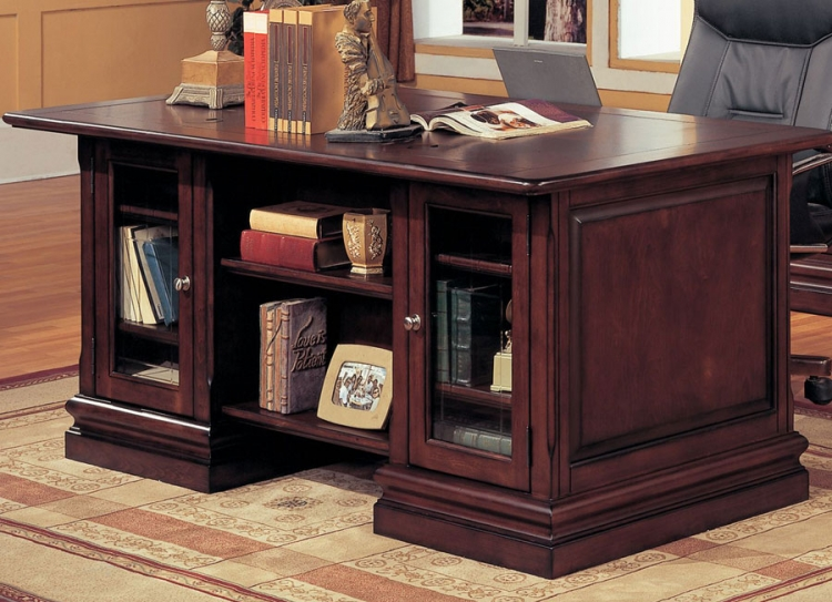 Sterling Double Pedestal Executive Desk - Parker House