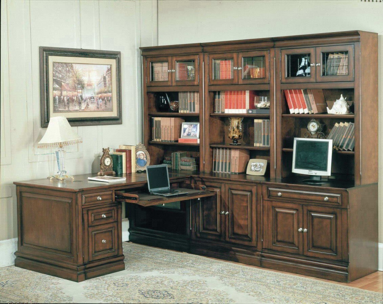 Sterling Home Office Suite 8pc Corner Set - Parker House