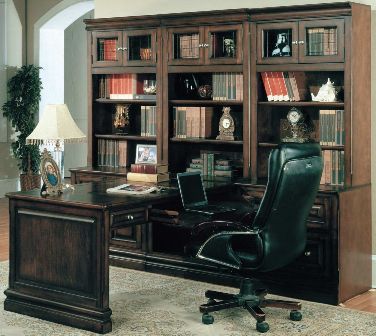 Sterling Home Office Suite 7pc Peninsula Group - Parker House