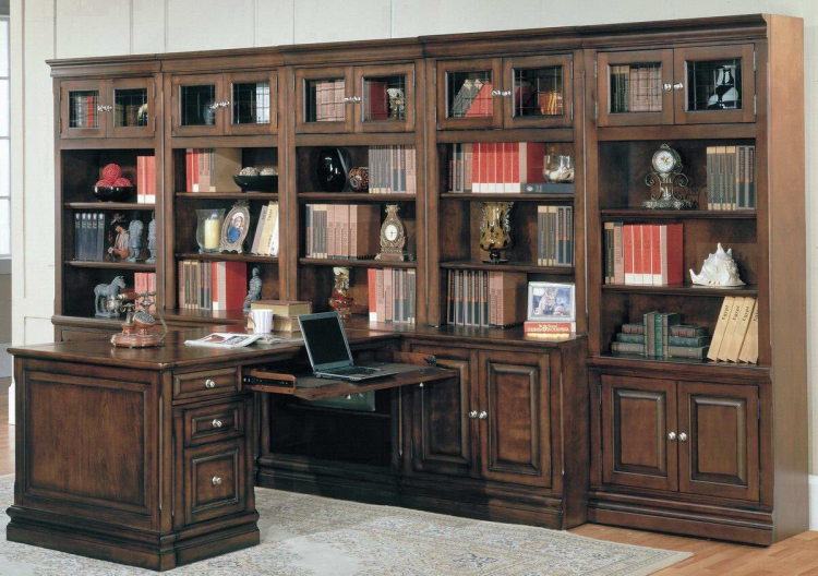 Sterling Home Office Suite Library Wall System Mix - Parker House