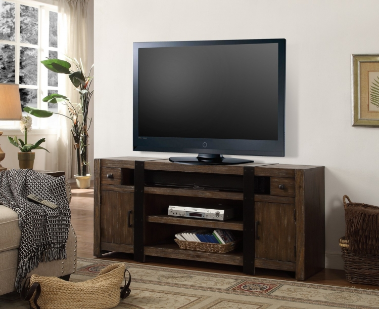 Tribeca 63-inch TV Console - Weathered Pine