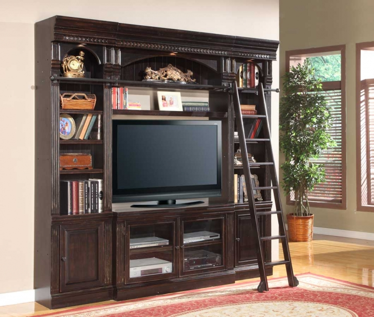 Venezia 50in Library Space Saver Entertainment Wall Unit - Parker House